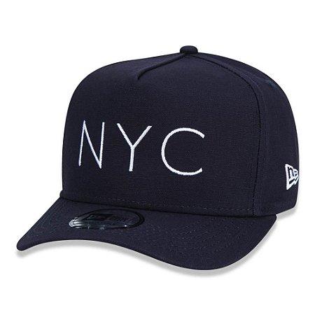 Boné New Era 940 A-Frame New York NYC Aba Curva Azul Marinho