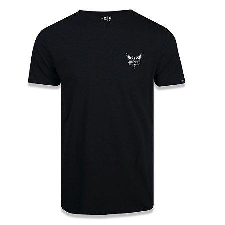 Camiseta New Era Charlotte Hornets NBA Black Pack Preto