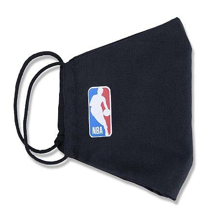 Máscara New Era NBA Logoman Lavável Preto