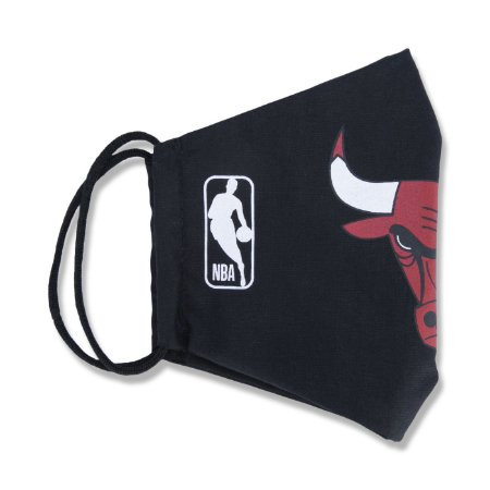 Máscara New Era Chicago Bulls NBA Logoman Lavável Preto