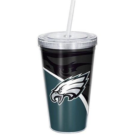 Copo Com Canudo Luxo NFL Philadelphia Eagles