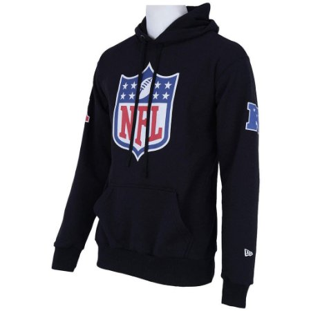 Casaco Moletom NFL Shield Capuz Preto - New Era