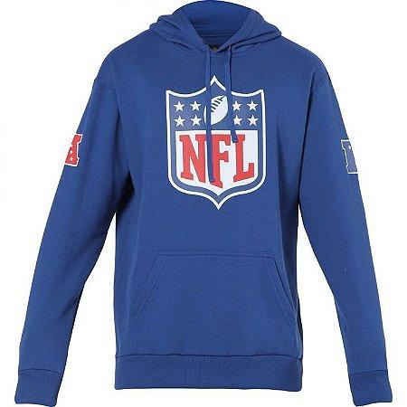 Casaco Moletom NFL Shield Capuz Azul - New Era