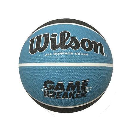 Bola de Basquete Wilson Game Breaker Azul Preto