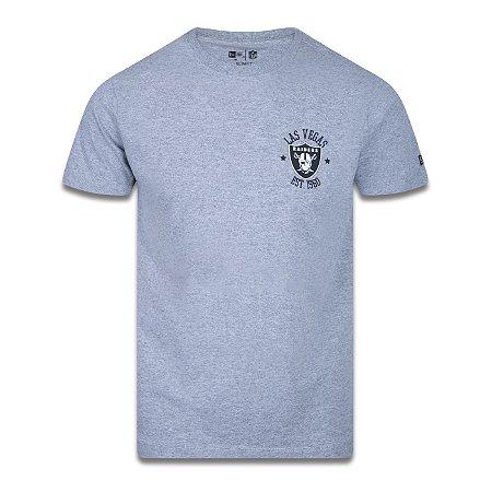 Camiseta New Era Las Vegas Raiders NFL Logo City Cinza