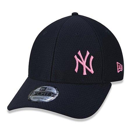 Boné New Era New York Yankees MLB 940 Space Tech Aba Curva