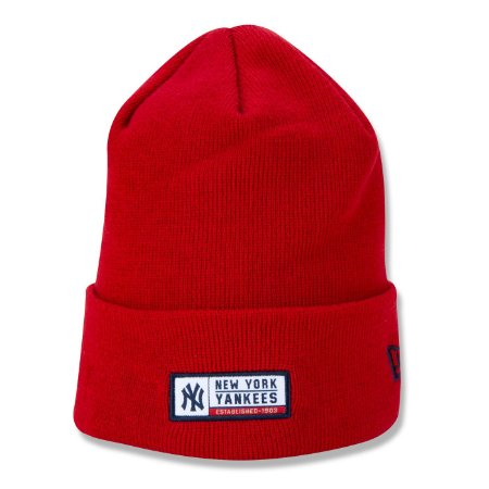 Gorro New Era New York Yankees MLB Woven Label Vermelho