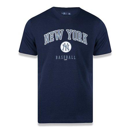 Camiseta New Era New York Yankees MLB Wordmark Azul Marinho
