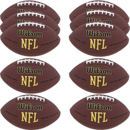 4eb2f2466f76f Kit com 10 Bolas NFL Super Grip Futebol Americano - Wilson - FIRST ...