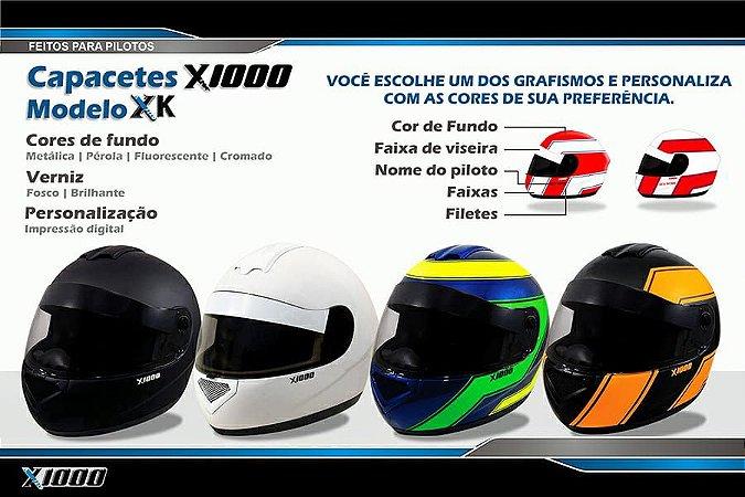 Capacete X1000 personalizado- Grafismo 1