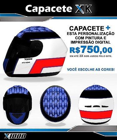 Capacete X1000 personalizado- Grafismo 3