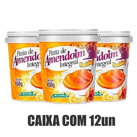 Pasta de Amendoim Integral Mandubim (450g) - Caixa 12 Unidades