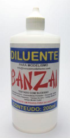 Diluente Banzai Para Modelismo - 200ml