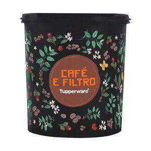 Tupperware Tupper Caixa Café e Filtro Floral