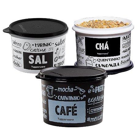 Tupperware Kit PB 3 peças (Tupper Sal/Tupper Café/Tuupper Cha)