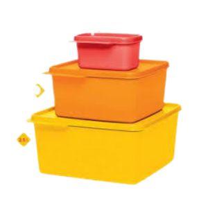 Tupperware Kit Basic Line 3 peças - 1,2 L+ 2,5 L+ 160ml