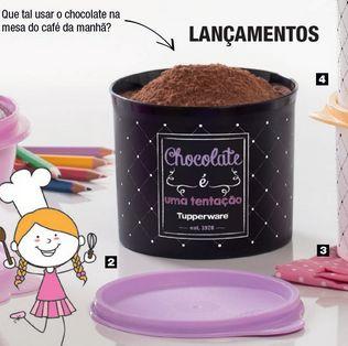 Tupperware Redondinha Chocolate BIstro