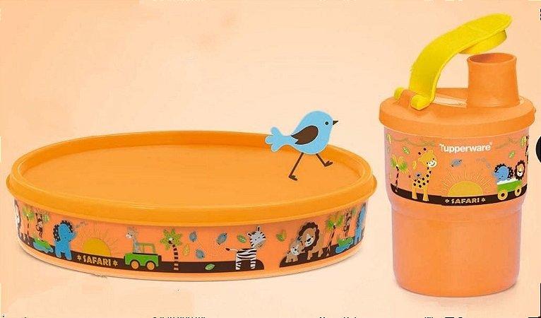 Tupperware Pratinho Baby Safari + Copo com bico