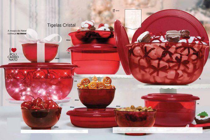 TUpperware Tigela Cristal em Policarbonato - Kit 10 peças