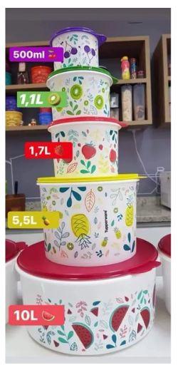 Tupperware Conjunto Artesanal Frutas Kit 5 Peças
