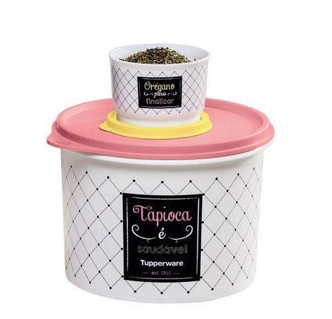 Tupperware Caixa Tapioca Bistrô 1,6 Litro + Potinho Orégano Bistrô 140ml