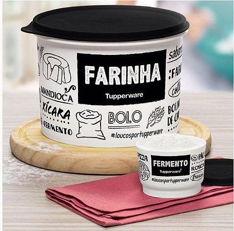 Tupperware Caixa de Farinha PB 1,8 lts + Potinho Fermento 140 ml