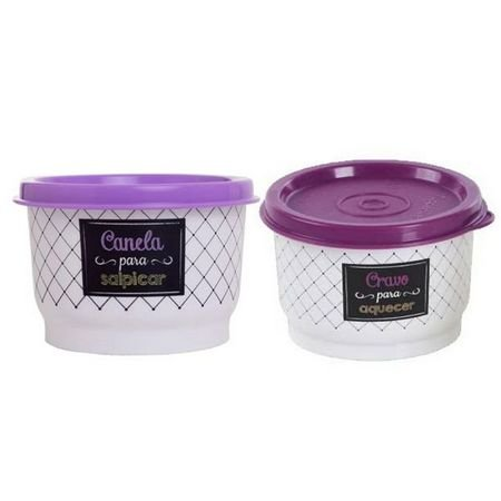 Tupperware Potinho Tempero Bistrô Cravo e Canela - 2 peças
