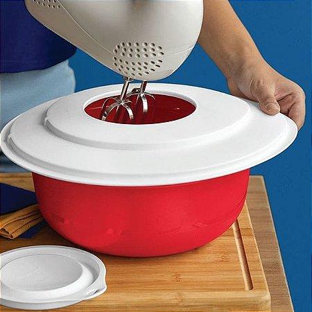 Tupperware Tigela Batedeira Pró Vermelha  4 litros