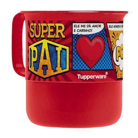 Tupperware Caneca Pai 350 ml Vermelha