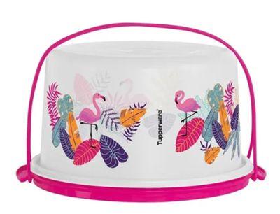 Tupperware Porta Bolo Big Cake Flamingo