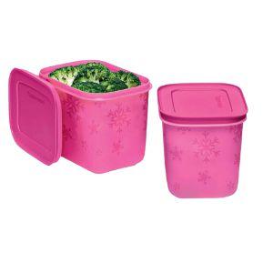 Tupperware Freezer Line 1,1 litros - Kit 2 peças