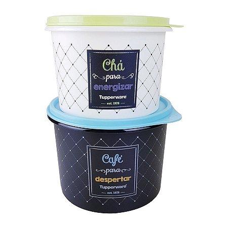 Tupperware Kit Bistrô 2 Peças - Café 700grs + Chá 300grs