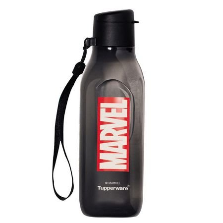 Tupperware Garrafa Eco Tupper Quadrada Marvel 500 ml