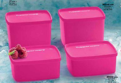 Tupperware Kit Jeitoso e Jeitosinho Rosa - 4 Peças