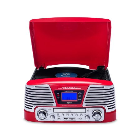 Vitrola Raveo Harmony Vermelha Bluetooth