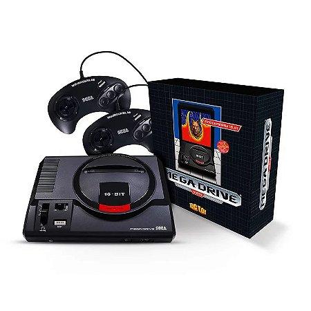Console Mega Drive + Dois Joysticks + Cartão SD com 22 Jogos
