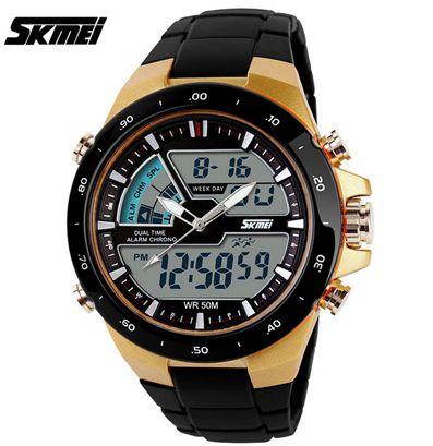 Relógio Masculino Skmei Elegante LED Military