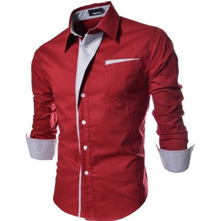 Camisa Masculina Casual Slim Fit Reveillon