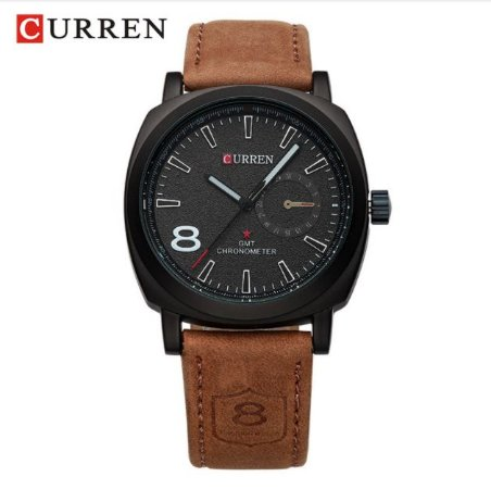 RelógioMasculino Curren GMT Chronometer Sport