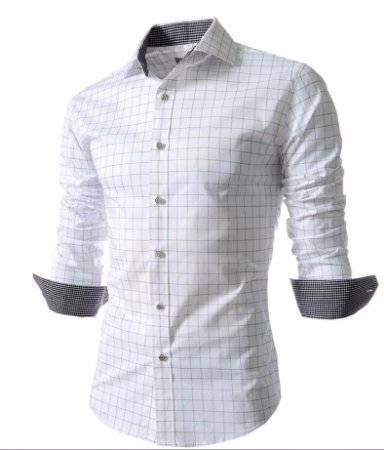 Camisa Masculina Casual Long Sleeve Modelo 02