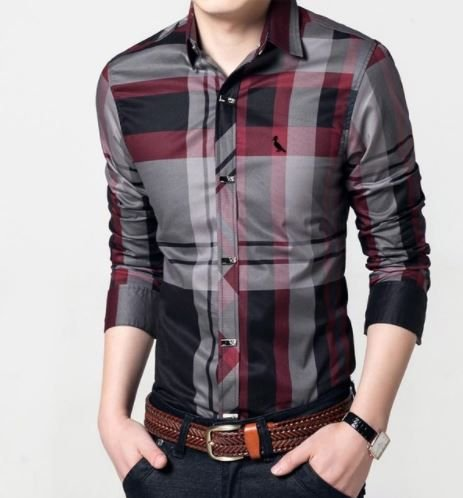Camisa Masculina Casual Listrado Reser