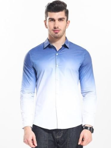 Camisa Masculina Casual Gradient