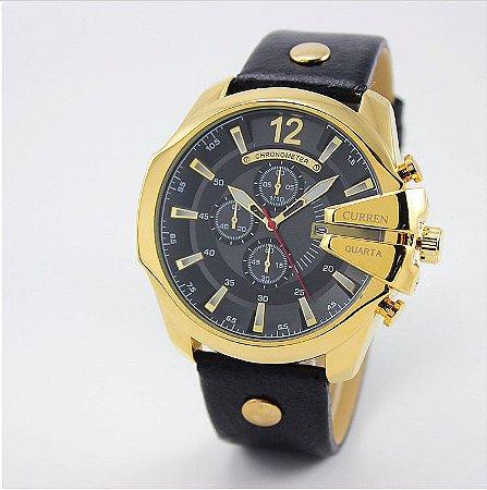 Relógio Masculino Curren Luxure  Modelo 01
