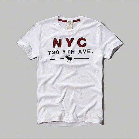 Camiseta Masculina Holli Aber A&F Modelo 16
