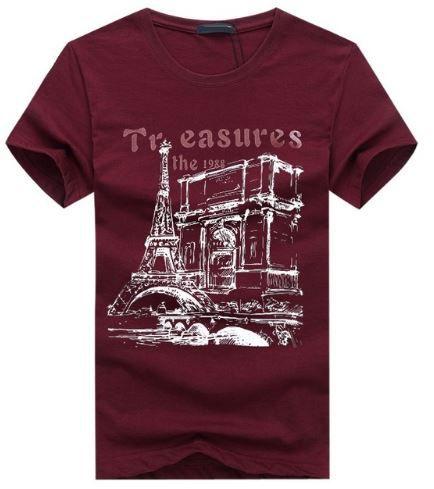 Camiseta Masculina Estampada  Paris