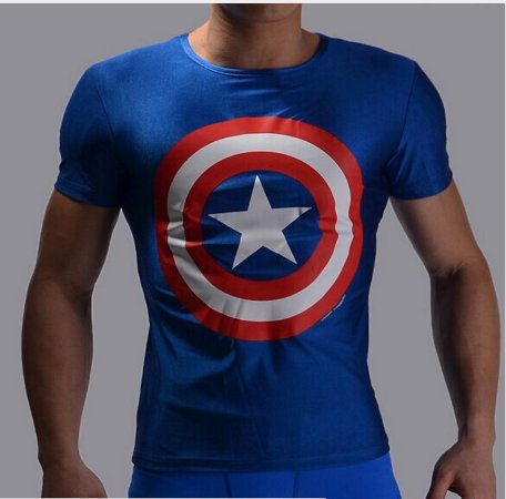 Camiseta Masculina Super-Heróis Modelo 24