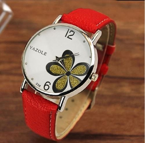 Relógio Feminino Yazole Pulseira Vermelha