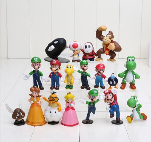 Artigo Colecionável Kit Super Mario
