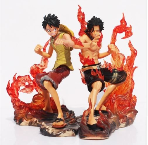 Artigo Colecionável One Piece  Monkey D. Luffy  e Monkey D. Dragon