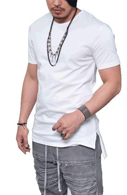 Camiseta Long line, Oversized, Branca para Sublimação, 100% Poliéster